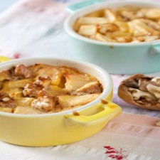 Booster apple and grape clafoutis