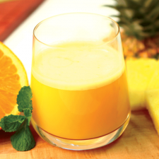 Orange and pineapple flavour drink